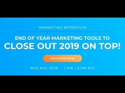 WEBINAR – Digital Marketing Tools to End 2019