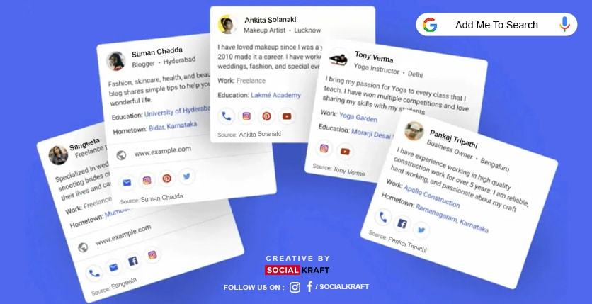 Add me to Search: Latest rollout Feature from Google India